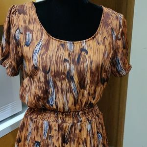 THIS IS A BEAUTIFUL MULTICOLOR FIT N FLAIR DRESS